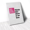 Tranh Canvas Quote Think Like There Is No Box (40x60cm - 50x75cm - 60x90cm)