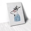 Tranh Canvas Deer With Blue T-Shirt (40x60cm - 50x75cm - 60x90cm)