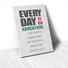 Tranh Canvas Quotes Everyday Is An Adventure Green And Pink (40x60cm - 50x75cm - 60x90cm)