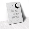 Tranh Canvas Quotes Love You To The Moon And Back (40x60cm - 50x75cm - 60x90cm)