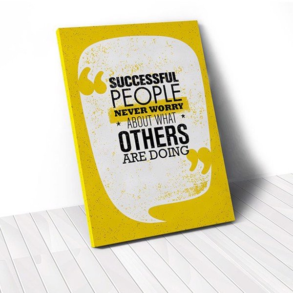Tranh Canvas Quote Successful People (40x60cm - 50x75cm - 60x90cm)