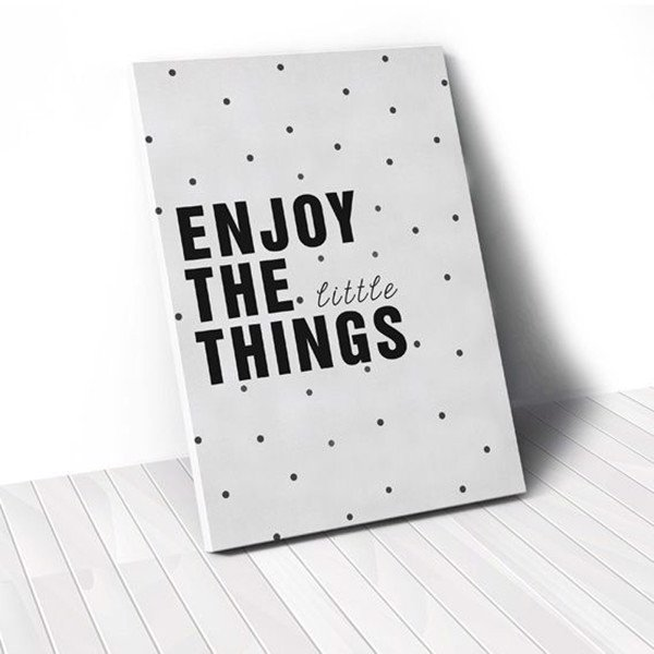Tranh Canvas Quotes Enjoy The Little Things (40x60cm - 50x75cm - 60x90cm)