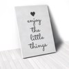 Tranh Canvas Quotes Enjoy The Little Things Heart (40x60cm - 50x75cm - 60x90cm)