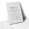 Tranh Canvas Quotes Happiness (40x60cm - 50x75cm - 60x90cm)