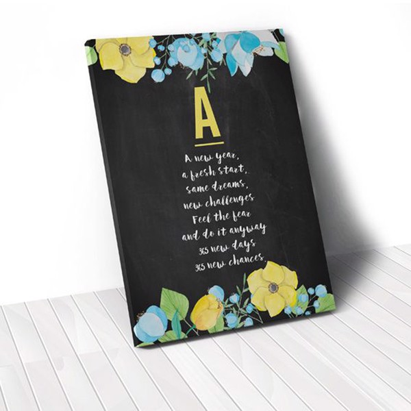 Tranh Canvas Quotes A New Year Quote (40x60cm - 50x75cm - 60x90cm)