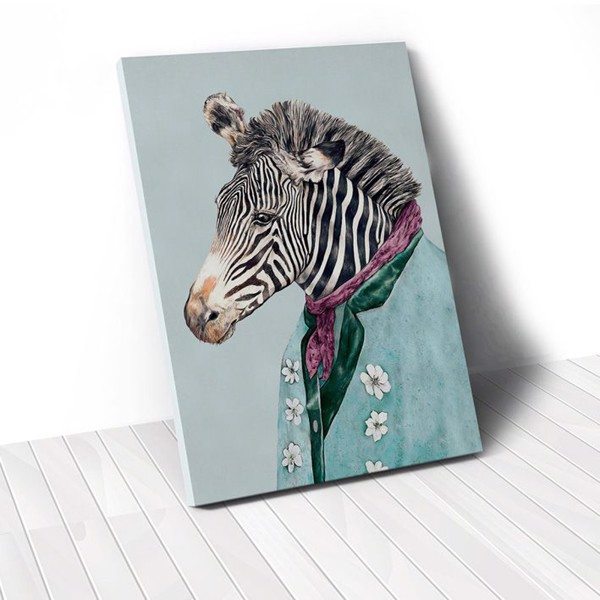 Tranh Canvas Mr Zebra (40x60cm - 50x75cm - 60x90cm)