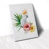 Tranh Canvas Parrot With Flower 1 (40x60cm - 50x75cm - 60x90cm)