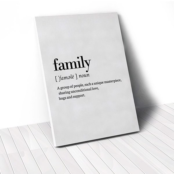 Tranh Canvas Quotes Family Meaning (40x60cm - 50x75cm - 60x90cm)