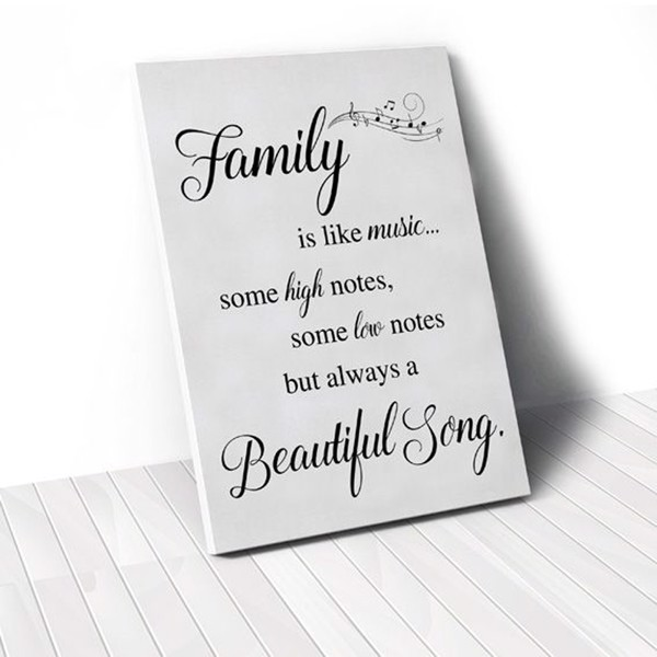 Tranh Canvas Quotes Family Is Like Music (40x60cm - 50x75cm - 60x90cm)