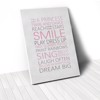 Tranh Canvas Quotes Smile Pink (40x60cm - 50x75cm - 60x90cm)