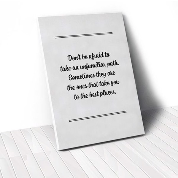 Tranh Canvas Quotes Don't Be Afraid (40x60cm - 50x75cm - 60x90cm)