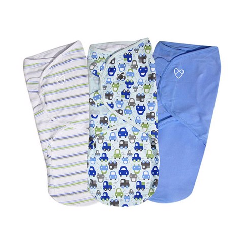 Set 3 chăn quấn SwaddleMe Graphic Car Boy size L
