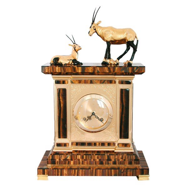 Đồng hồ Big Table Clock Tiger Eye with 2 Oryx