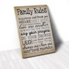 Tranh Canvas Quotes Family Rules Vintage (40x60cm - 50x75cm - 60x90cm)