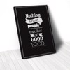 Tranh Canvas Quote Nothing Brings People Together Like Good Food Nền Đen (40x60cm - 50x75cm - 60x90cm)