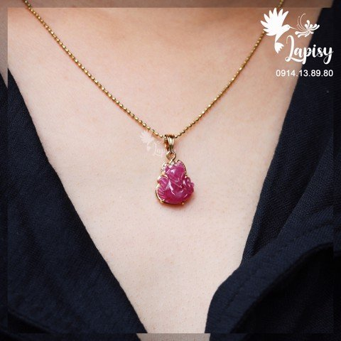 Mặt dây hồ ly ruby loại AAA
