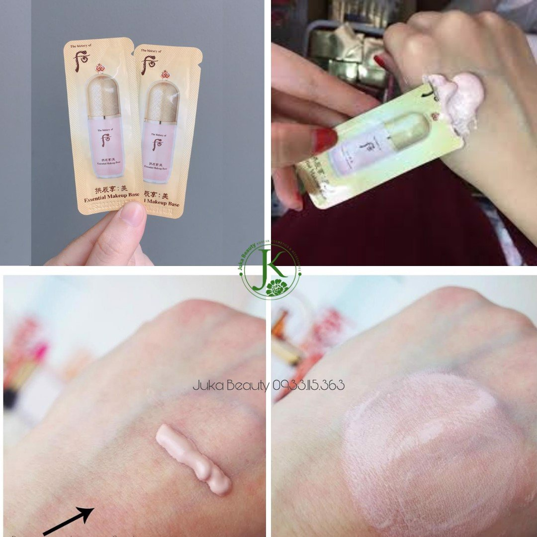 Sample kem lót trang điểm The Whoo Essential Make Up Base (pink) - 1ml