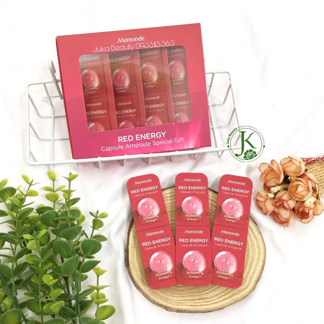 Sample dưỡng phục hồi da Mamonde Red Energy Capsule Ampoule Special Gift