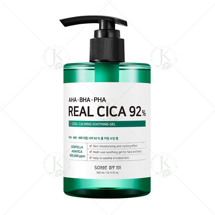 Gel trị mụn Some By Mi AHA-BHA-PHA Real Cica 92% Cool Calming Soothing Gel 300ml