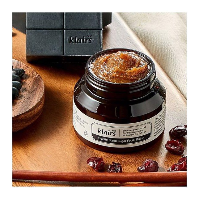 Tẩy da chết Klairs Gentle Black Sugar  Facial Polish