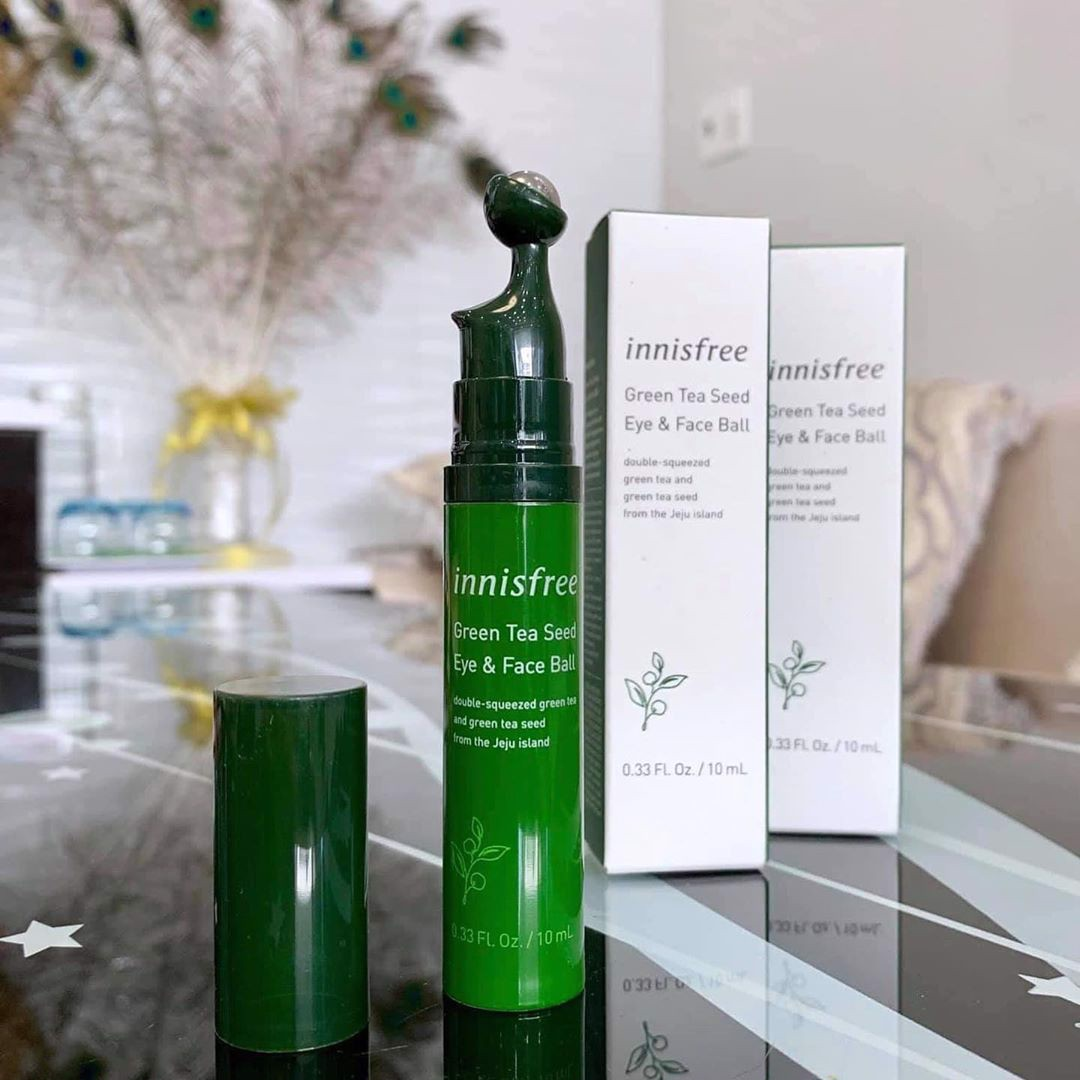 [New 2019] Lăn mắt Innisfree Green Tea Seed Eye & Face Ball 10ml
