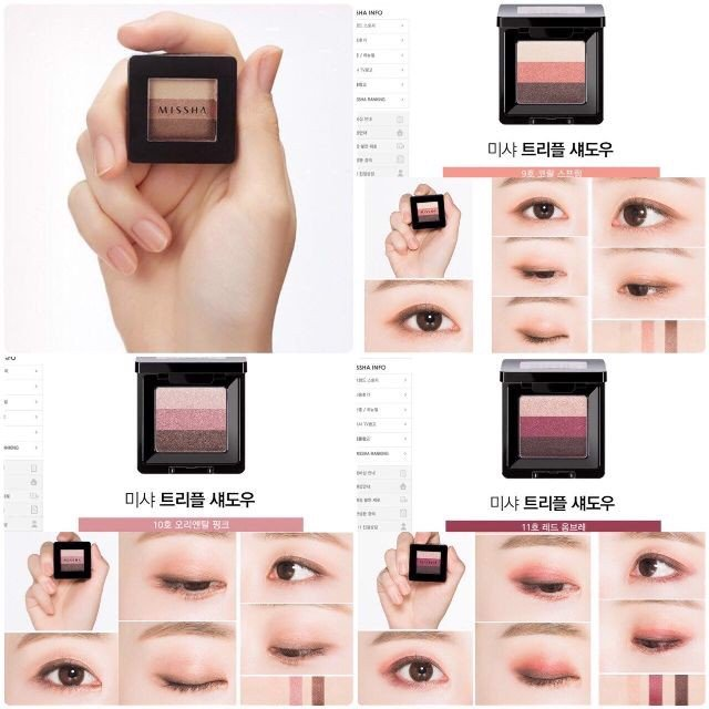 Phấn mắt 3 màu Missha The Style Triple Perfection Shadow