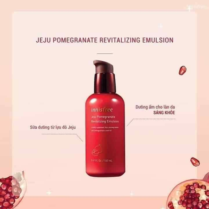 Set dưỡng da lựu Innisfree Jeju Pomegranate Revilatizing Skin Care Special Set (4 món)