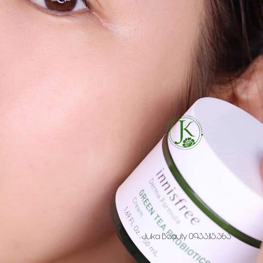 (Mini size tuyp 20ml )  Kem dưỡng phục hồi da Innisfree Derma Formula Green Tea Probiotics Cream 20ml