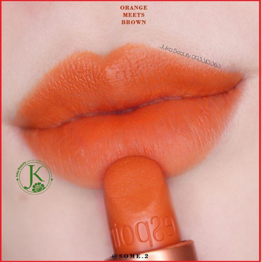 Son Thỏi Espoir Lipstick No Wear Power Matte màu OR407 Orange Meets Brown