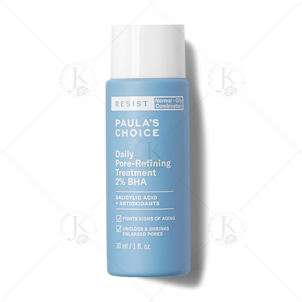 (Mini 30ml) Tẩy da chết chống lão hóa Paula's Choice Resist Daily Pore-Refining Treatment With 2% BHA 30ml