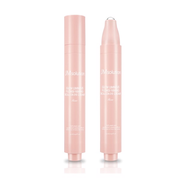 Lăn mắt JM Solution Glow Luminous Flower Firming Roll On Eye Cream_Rose hồng 15ml