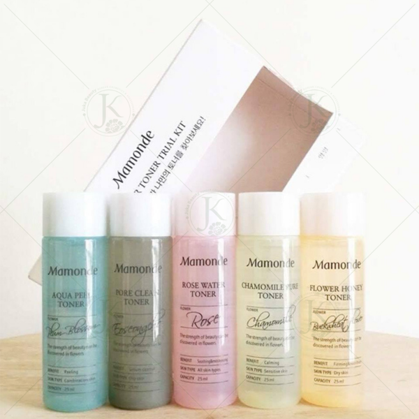 Set nước hoa hồng 5 chai Mamonde Flower Toner Trial Kit 25ml  (5 items)