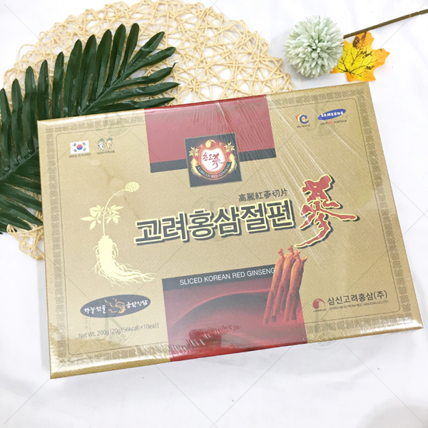 Hồng Sâm Lát Samshin Sliced Korean Red Ginseng 20g*10