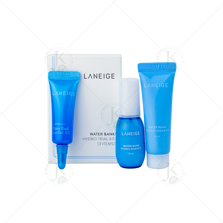 Kit dưỡng da cấp ẩm Laneige Water Bank Hydro Trial Kit (3 Items)