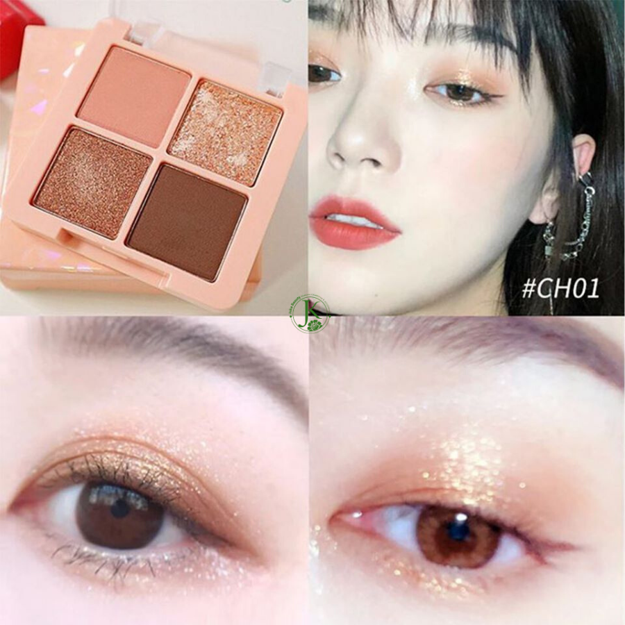 Phấn mắt 4 ô Black Rouge Crystal Heart  Lock Shadow