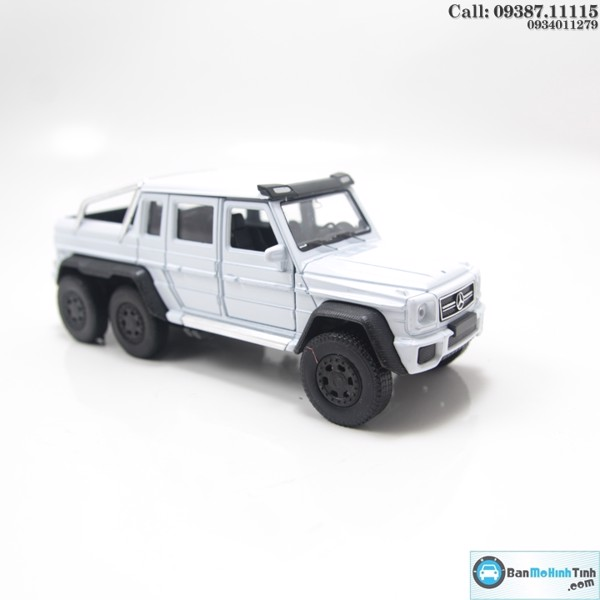 MÔ HÌNH MERCECES-BENZ G63 AMG 6X6 WHITE 1:36 WELLY