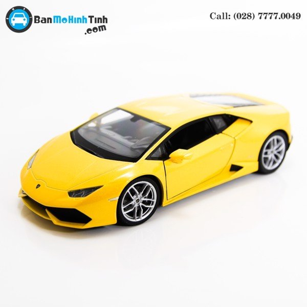 MÔ HÌNH LAMBORGHINI HURACAN LP610-4 YELLOW 1:24 WELLY - 24056Y