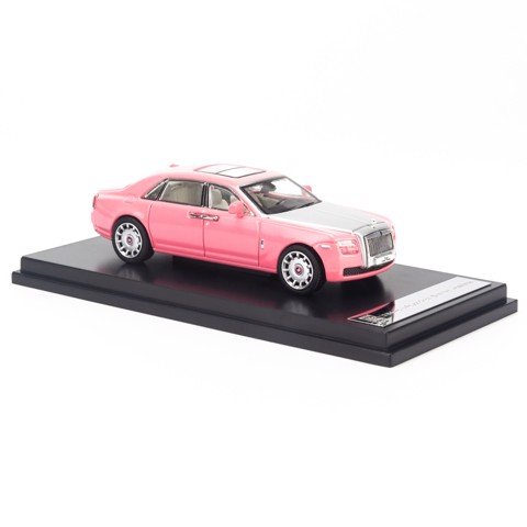 Mô hình xe sang Rolls Royce Ghoste Extended Wheelbase 1:64 Collector's Model Pink