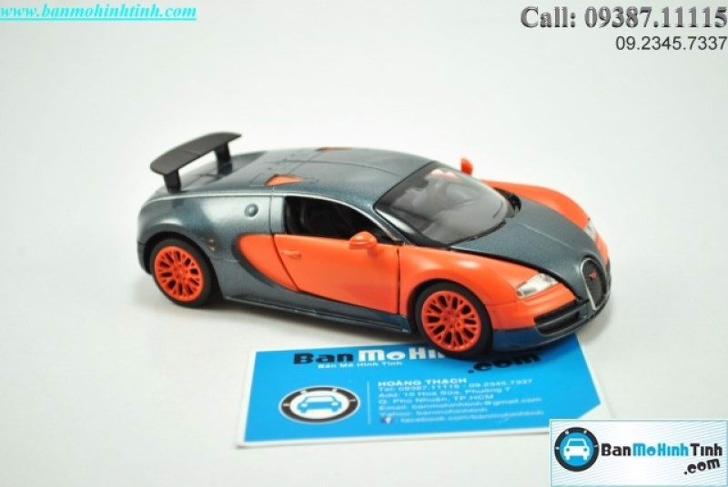 MÔ HÌNH BUGATTI VEYRON ORANGE 1:32 DOUBLE HORSE