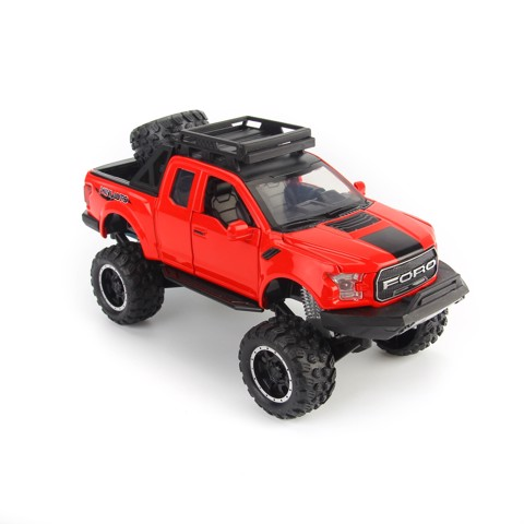 MÔ HÌNH DESIGN OFF-ROAD KINGS 2017 FORD F-150 RAPTOR RED 1:24 MAISTO MH-32521R
