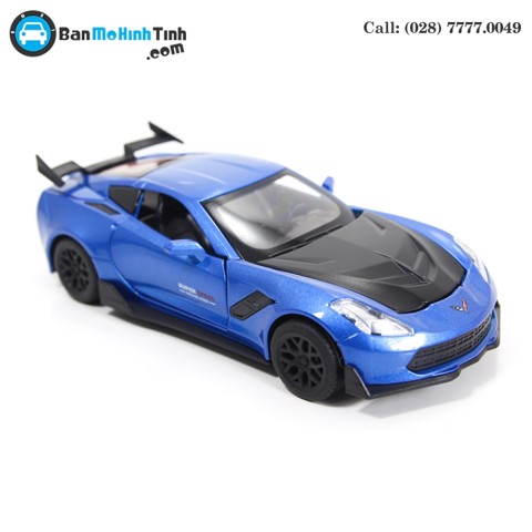MÔ HÌNH CHEVROLET CORVETTE ZR1 BLUE 1:32 TYMODELS