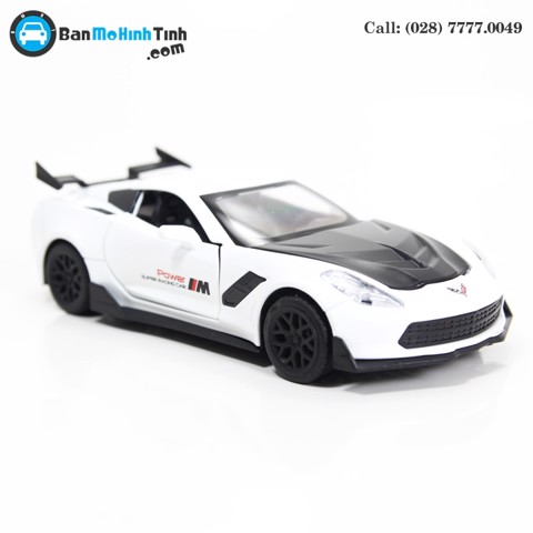 MÔ HÌNH CHEVROLET CORVETTE ZR1 WHITE 1:32 TYMODELS