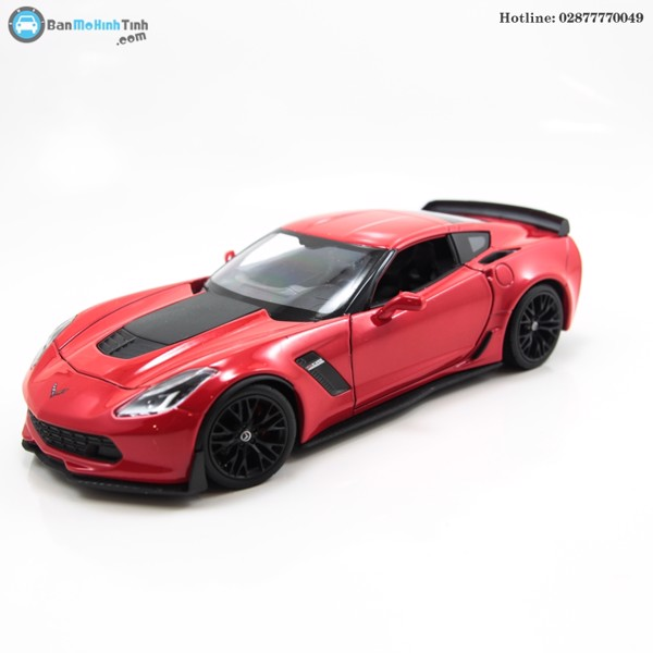 CORVETTE Z06 RED 1:24 WELLY-24085