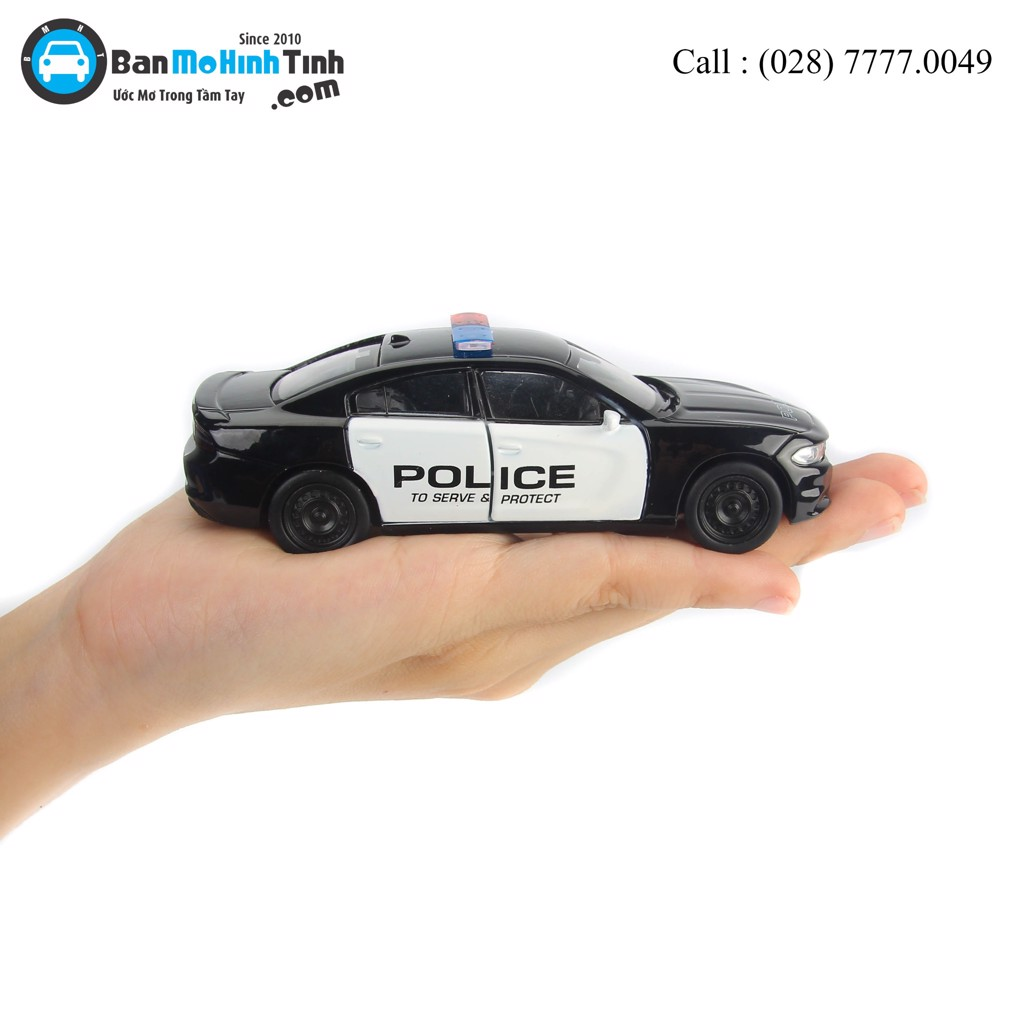 Mô hình xe Dodge Charger R/T Pursuit Police 1:36 Welly- 43742