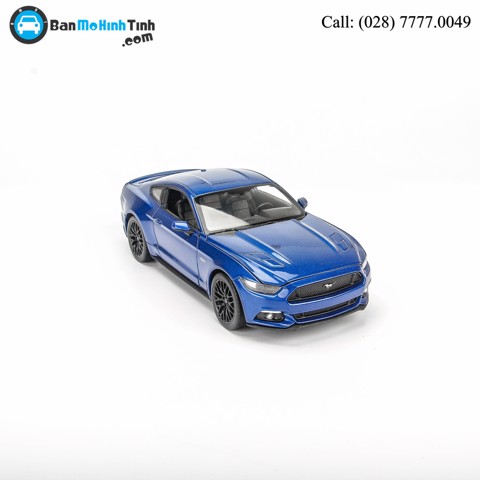 MÔ HÌNH FORD MUSTANG GT 2015 BLUE 1:24 WELLY- 24062W