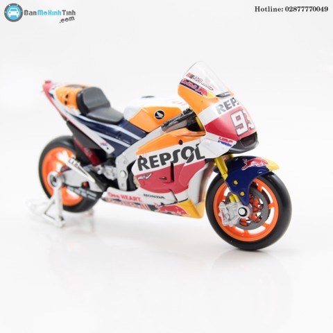 MÔ HÌNH HONDA RACING TEAM RV213V MOTO GP 93 2018 1:18 MAISTO- 31595-93