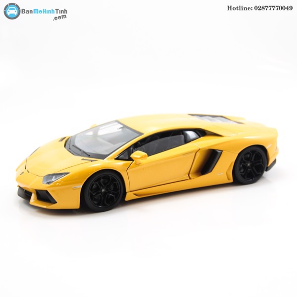 MÔ HÌNH LAMBORGHINI AVENTADOR LP700 YELLOW 1:24 WELLY- 24033