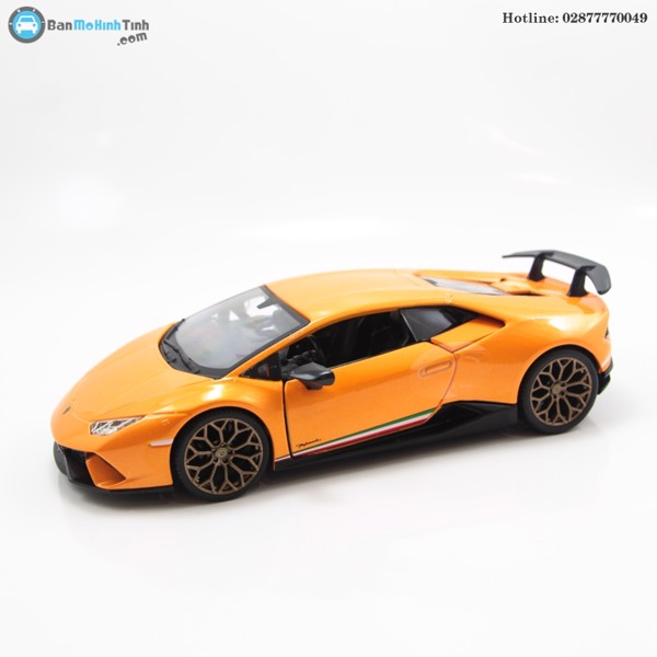 MÔ HÌNH LAMBORGHINI HURACAN PERFORMANTE ORANGE 1:24 BBURAGO- 18-21092