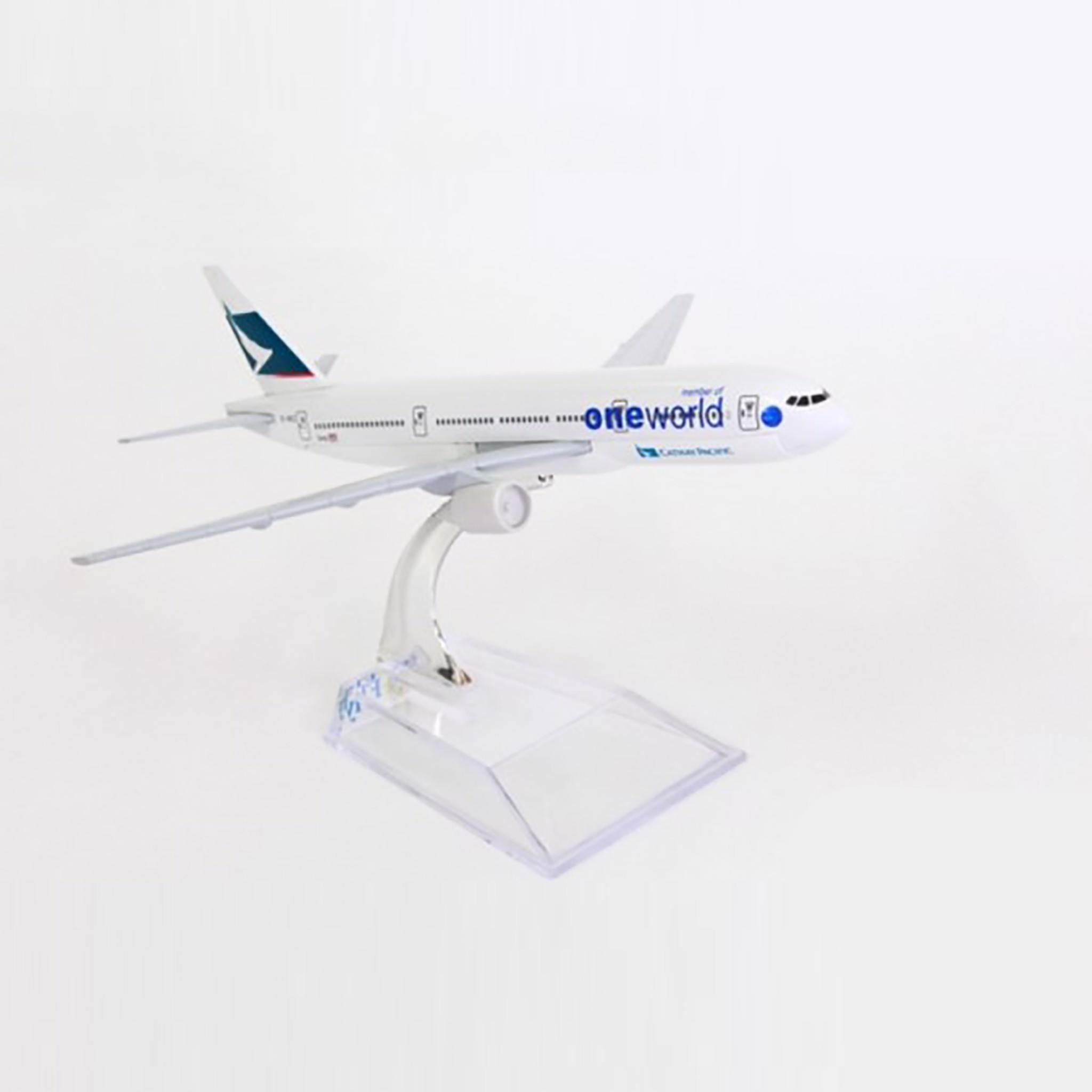 Mô hình máy bay One World Cathay Pacific Boeing B777 16cm Everfly