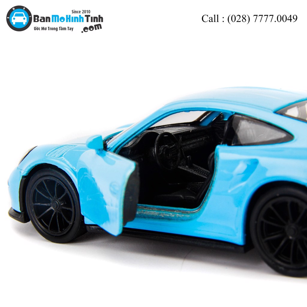 Mô hình xe Porsche 911 GT3 RS Light Blue 1:36 Welly- 43746